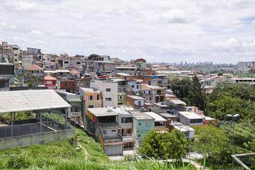 Poverty in the favela of Sao Paulo city
