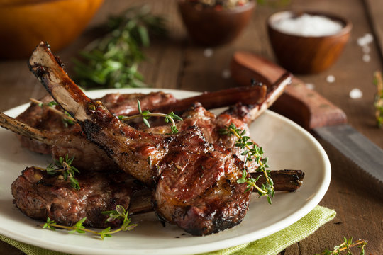 Organic Grilled Lamb Chops