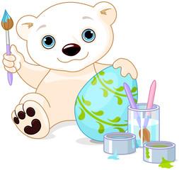 Easter Polar Bear