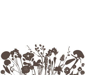 florals black background