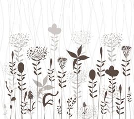 florals vector silhouette