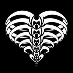 Abstract Heart tribal tattoo design