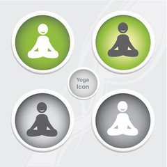 Health and Fitness icons set - yoga icon.