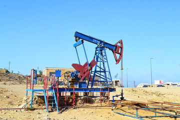 Oil wells in Baku, Azerbaijan