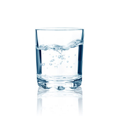 Glass with water isolated. Vector illustration