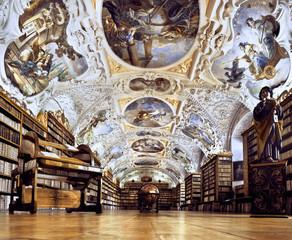 Strahov Monastery library interior, space
