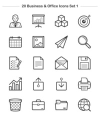 Line icon - Business & Office 1, Bold