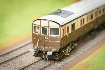 vintage model train carriage closeup