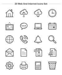 Line icon - Web and Internet, Bold