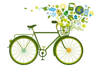 recycling icons bicycle