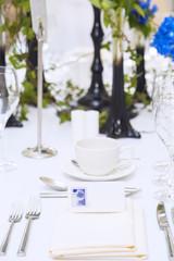 Luxury scottish wedding gala table setting