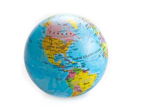globe world toy isolated on white background