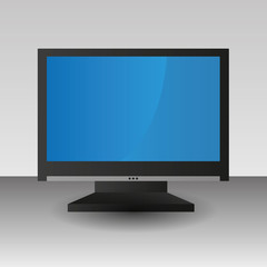 Black TV isolated technology