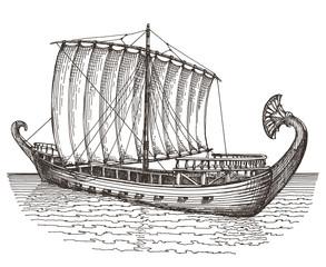 ship vector logo design template. boat or transport icon.