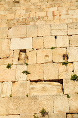 Western wall - the main jewish sacred place of Jerusalem.