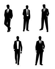 Businessmen silhouettes set