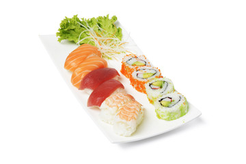 Sushi, Teller, frisch