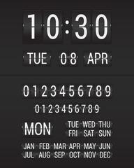 Flip Clock Black