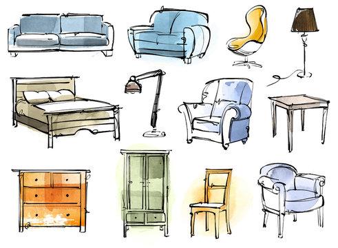 Furniture Doodle