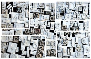 Old letterpress German letters