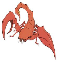 Nice red scorpion cartoon