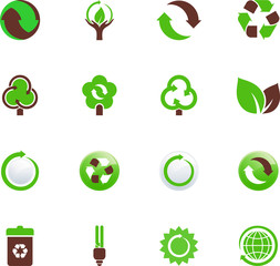 Green Icons Set