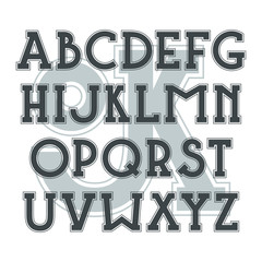 Bold serif font in classic style