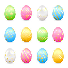 Easter eggs with decorative patterns