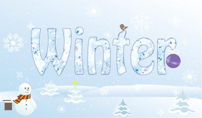Christmas snowmansnowflake cartoon pine bells vector
