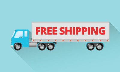 Large Semi Truck - Free Shipping Design