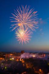Multicolor fireworks