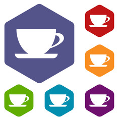 Cup rhombus icons