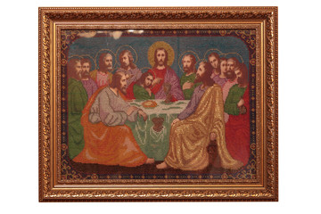 "icon of ""The Last Supper"" in the form of handmade paintings full"