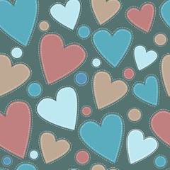 background multicolored suede heart