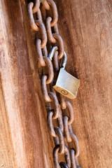 Locked wooden door