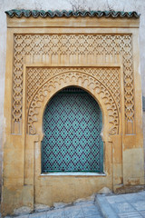 Morocco. Jamee lakbire Medersa in the medina of Sale. Detail of