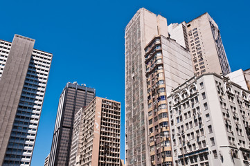 Old Commercial Skyscrapers in Downtown Rio de Janeiro