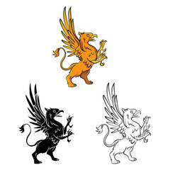 Coloring book Griffin cartoon character