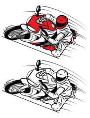 Coloring book Moto Sport cartoon character