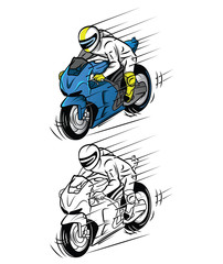 Printed kitchen splashbacks Newspapers Coloring book Moto Race cartoon character