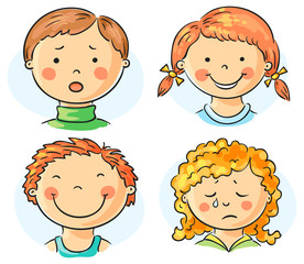 Wall Mural - Kids faces
