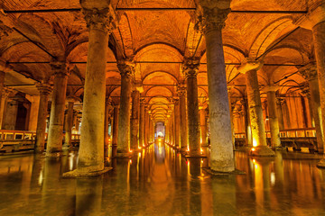 The Basilica Cistern, Istanbul Wall mural