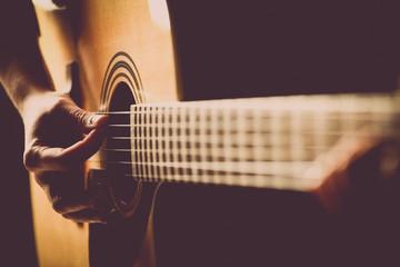 Acoustic guitar detail