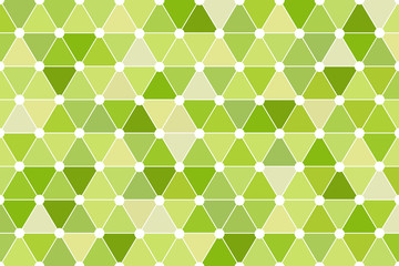Green Quincunx Seamless Triangle Pattern Vector