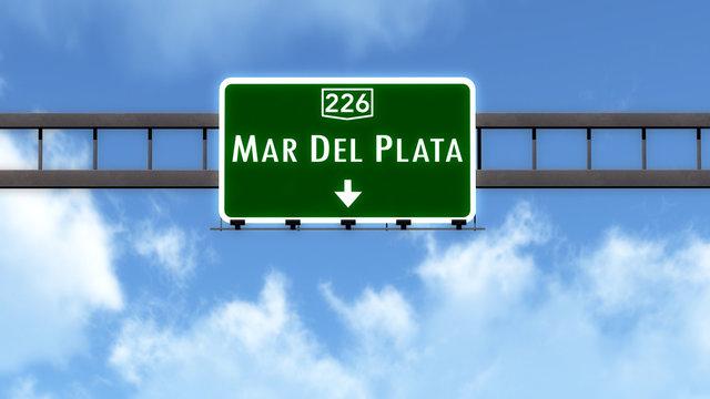 Mar Del Plata Argentina Highway Road Sign