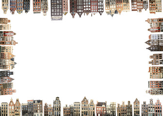 Poster - Amsterdam, Netherlands houses and streets, city view
