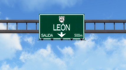 Leon Highway Road Sign