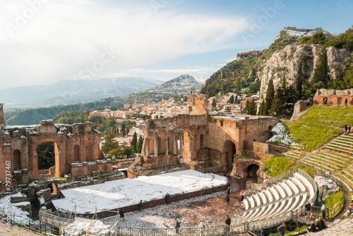 Alcun visto dona a Taormina