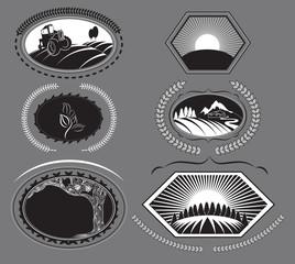 Set of farm labels