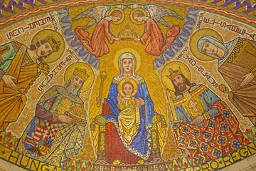 Jerusalem - mosaic of Madonna in Dormition abbey